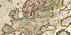 Map of Europe, by Mercator